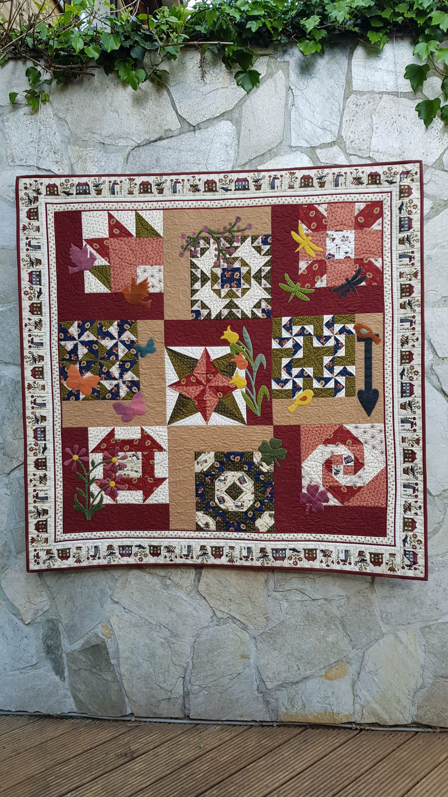 Block off the Month - 'BloomingNature' Sampler Quilt cursus-6 Dagen-start 15 Jan